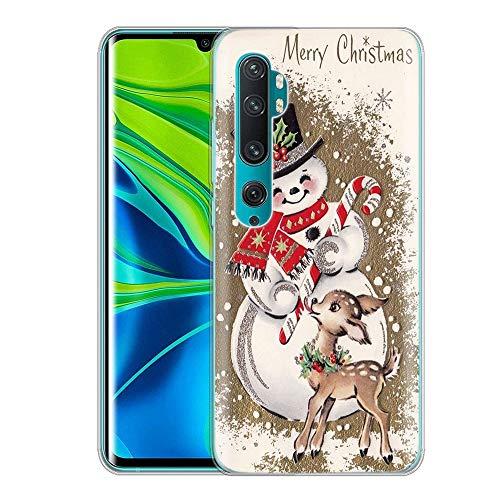 Yoedge Funda para Xiaomi Mi Note 10, Cárcasa Silicona Transparente con Navidad Dibujos Antigolpes Animados Suave...