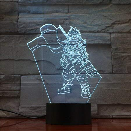 Videospiel Final Fantasy Cloud Strife 3D Nachttischlampe Schlafzimmerdekoration LED Nachtlicht Nachttischlampe Hologramm Spiel Fans
