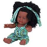 Juguetes de baño Baby Doll, Artificial Bebé recién nacido Realista de cuerpo completo Muñeca Reborn Juegos interactivos Juguetes para niños Regalo de cumpleaños para niñas (Green Floral Jumpsuit)
