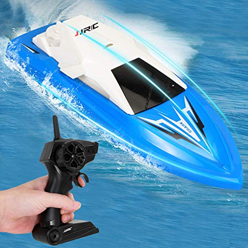Remote Control Boat for Kids Adults RC Boats for Pools and Lakes 2.4Ghz Racing Boats High Speed 20minutes Play Time Rechargeable Electric RC Toys for 6,7,8-16 Year Old Boys Girls Gifts Blue