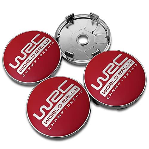 RHGEIUCY Citroen -Logo Piezas de automóviles 4pcs 56mm Wheel Center Cubierta del Centro de la Cubierta Adhesivos de Logotipo, Pegatinas de Cubierta del Cubo Modificado