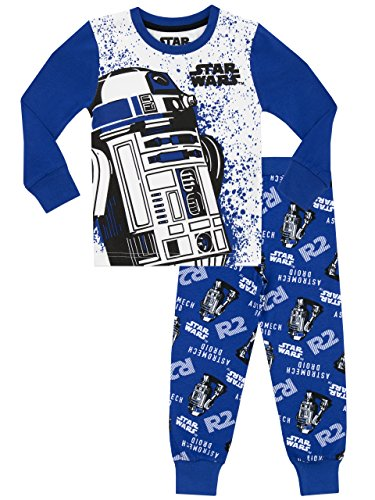Star Wars - Pijama para Niños R2D2 - Ajust Ceñido - 5-6 Años