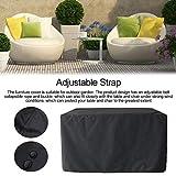 lossomly – Cubierta para silla de patio, impermeable, resistente al polvo, apilable, funda exterior para muebles de patio, plegable, para muebles de interior y exterior, B