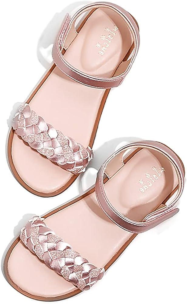 Stylein Little Kid Girls Max 46% OFF Open Omaha Mall Princess Sandals Fashion Flat Toe