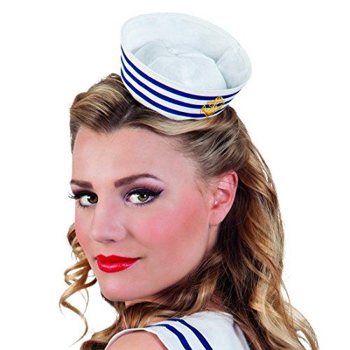 Amakando Matrosenhut Frauen Matrosenmütze Damen Matrosen Kappe Marine Mütze Matrosenhütchen Matrosenmütze Damen