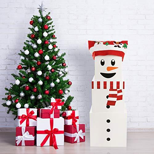 Christmas Box Decoration Christmas Stacking Boxes Snowman Gift Boxes Large Snowman Christmas Nesting Gift Boxes with Lids Snowman Stacking Boxes Three Gift Box Snowman Snowman Boxes to Make A Snowman