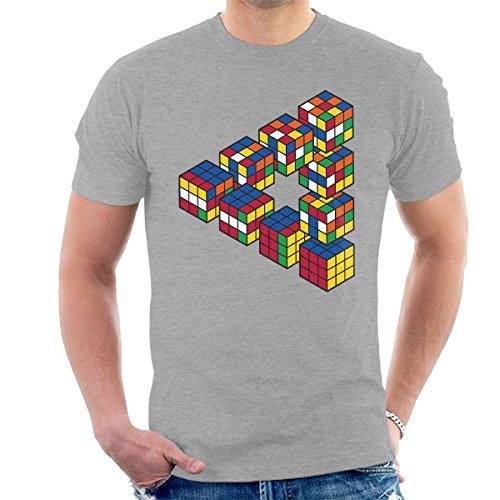 Puzzel Cube Penrose Driehoek mannen T-Shirt