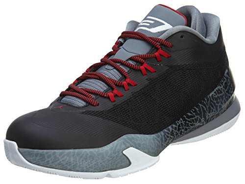 Tênis de basquete Jordan Nike masculino CP3.VIII preto/branco/cinza claro/vermelho academia 43