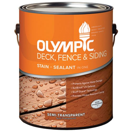 OLYMPIC/PPG ARCHITECTURAL FIN 58803A/01 Deck Stain, 1 Gallon, Clove Brown -  123591