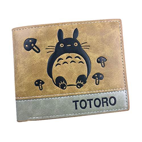 WANHONGYUE My Neighbor Totoro Anime Kunstleder Geldbörse Kurze Brieftasche Bifold Kartenhüllen Herrenbörse / 2
