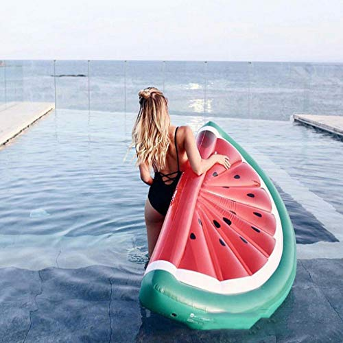 Piscina Inflable Juguetes Sandía Flotadores Flotador De La Piscina Beach Water Fun Toy Explosión De Frutas Colchón De Aire Ocioso -Adultura Flotante Red- 180 * 100cm
