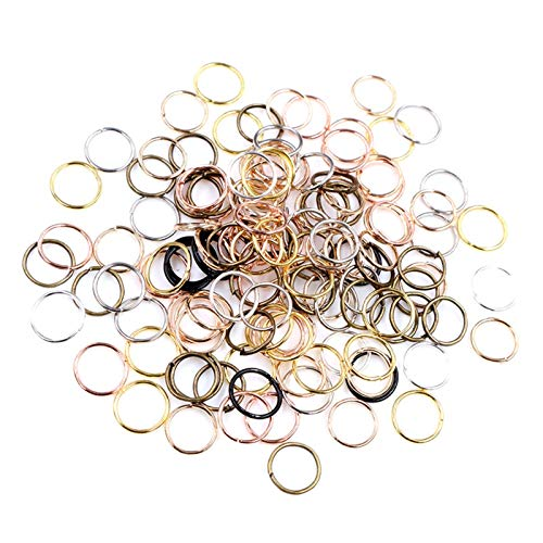 WRRPS 200pcs/Lot Metal DIY Jewelry Findings Open Single Loops Jump Rings Split Ring For Jewelry Making DIY accessories (Color : Mixed Color, Size : 3mm)