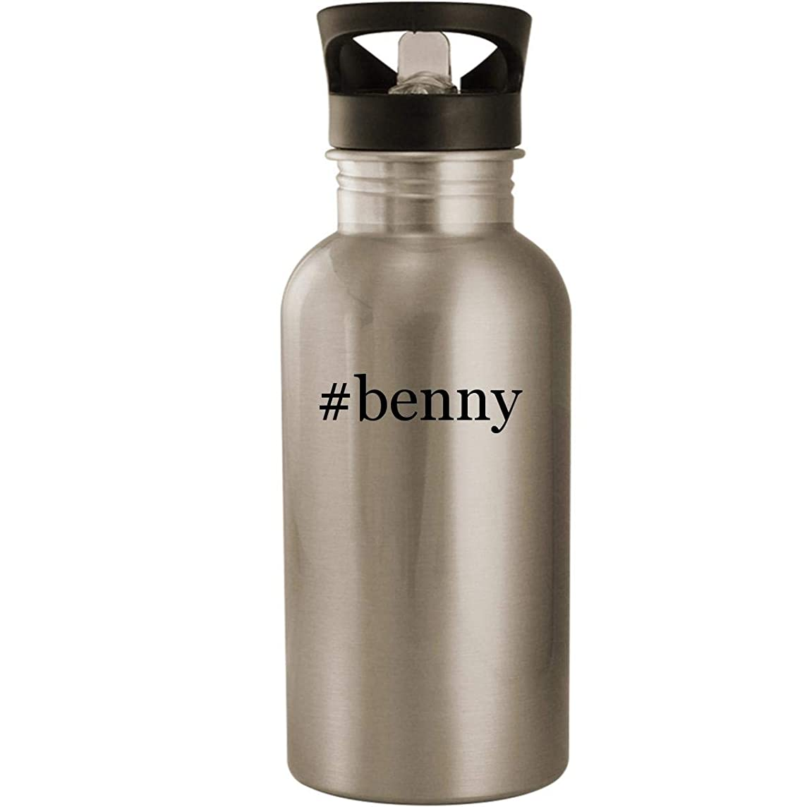 #benny - Stainless Steel Hashtag 20oz Road Ready Water Bottle, Silver