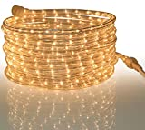 Tupkee Rope Light Clear - for Indoor and Outdoor use, 24 Feet (7.3 m) - 10MM Diameter - 288 Clear Incandescent Long Life Bulbs Rope Tube Lights