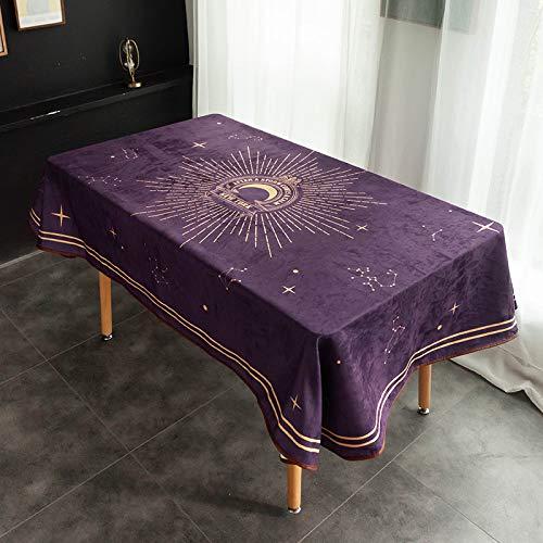 PhantasyIsland.com Mantel Rectangular Vintage de Madera de Grano de Lino, 100X140cm