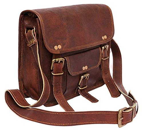 Bolso de piel para hombre y mujer, estilo vintage, para iPad Air y Netbook, hecho a mano, compatible con tabletas de 8 a 10 pulgadas (vintage)