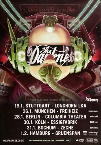 The Darkness - Last of Our Kind, Tour 2016 » Konzertplakat/Premium Poster | Live Konzert Veranstaltung | DIN A1 «