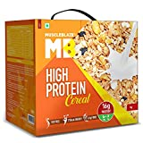 ✔️ NUTRITIOUS ANYTIME CEREAL: MuscleBlaze High Protein Cereal can be enjoyed at any time of the day by both kids and adults ✔️ HIGH-PROTEIN: MB High Protein Cereal provides 16 g protein per serving with 250 ml milk, higher than any other cereal in th...
