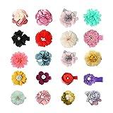AIEX 20pcs Baby Mädchen Haarspangen, handgemachte Blumen Haarspangen Blumen Haarschleifen Haarspangen Zubehör für Kleinkinder Babys Kleinkinder Kinder (Gemischte Farben & Stile)