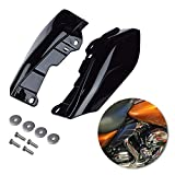 Amazicha Black Mid Frame Air Heat Deflectors Trim Left Right Set for Harley Touring and Trike Models 2009-2016