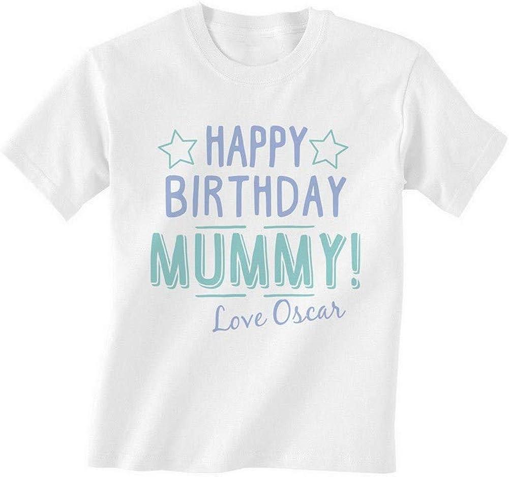 Shatel Clothing - Camiseta para bebé con Texto en inglés Happy Birthday Mummy