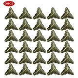 Haplws Bedruckte Holzkiste Ecken Eckenschutz Eisen Dekorative Ecken Grün Bronze 30Er Pack