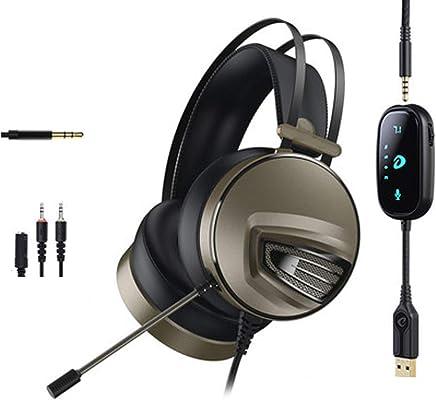 Gaming Headset per PS4 Xbox One PC, Cuffie Over-Ear con cancellazione del rumore con audio surround 7.1 Surround Mic Controllo del volume Jack da 3,5 mm, Mac compatibile, laptop, PC Gamers-grey - Trova i prezzi più bassi