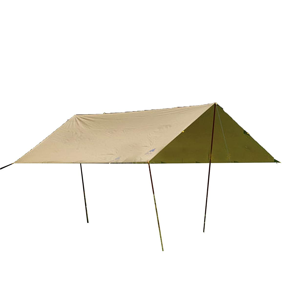 INDEPENDENT-NEWBIE Large Automatic Ultralight Family Beach Tent and Sun Shade UV Cabana Shelter | Camping, Hiking, Fishing | Lightweight, Portable, Breathable, and Windproof | Collapsible,3mx3m Khaki