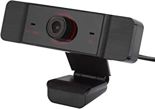 Tonysa Computer Webcam, HD Web Camera USB2.0 PC Computer Webcam Noise‑Canceling Web Camcorders with Microphone for Live Ca...