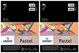 2-Pack - Mi-Teintes Pastel Pad, Assorted Colors 9' x 12' Fold Over
