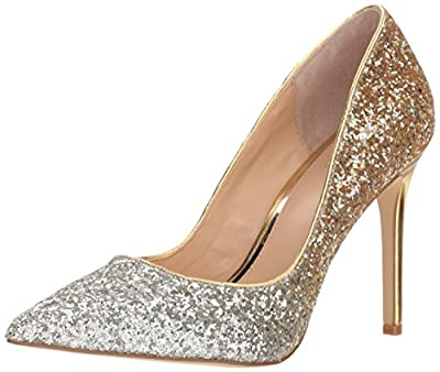 Jewel Badgley Mischka Women's Malta Shoe, silver/gold, M065 M US