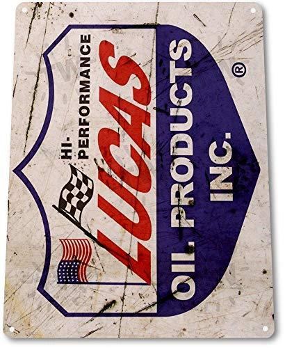 TIN SIGN B237 Lucas Olie Gas Pomp Station Auto Shop Rustieke Olie Metalen Decor Metalen Tin Teken 8X12 Inch