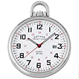 Gotham Men's Stainless Steel Analog Quartz Date Railroad Style Pocket Watch # GWC14107S