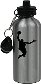 Personalized Custom Basketball Dunking Aluminum Silver Finish 20 Ounce Water Bottle Customizable