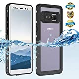 Samsung Galaxy Note 8 Waterproof Case, Shockproof Dustproof Snowproof Hard Shell Full-Body Underwater Protective Box Rugged Cover and Built in Screen Protector for Galaxy Note 8 (Black) (White)