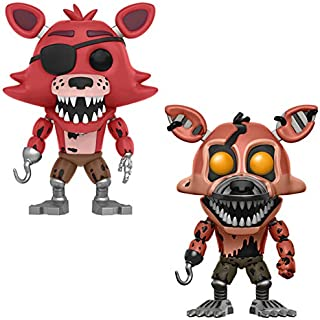 TIKIDA 2Pcs/Set Toys Dolls Chica Dy 5 Fazbear Puppet Bear PVC Action Figures Must Have Toys Gift Box The Favourite Anime Superhero Party Decorations Mini Unboxing
