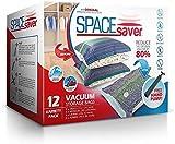 Sacs de Rangement Sous Vide Jumbo 100x80cm Premium Space Saver + Sans Hand-Pump Pour...