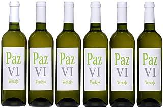 Vino blanco Verdejo seco afrutado vino joven calidad suprema Paz VI Vino Verdejo - Pack de Botellas 6 x 750 ml - Total: 4500 ml