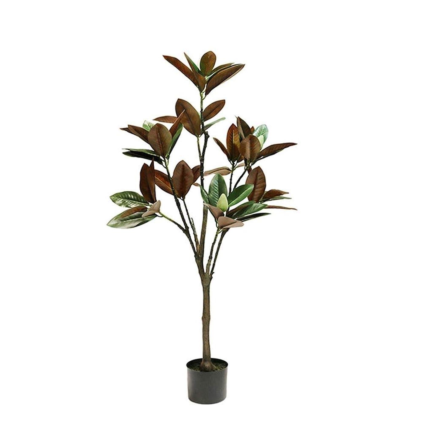 木材議会気晴らしWAYNEYOROSH シミュレーションマグノリアの木アメリカの中国のフローリング緑の植物鉢植えの風景の装飾グリーンホーム (色 : オレンジ, サイズ : 120cm)