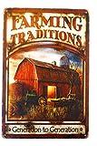 Vintage Tin Sign Replica TSC217 Cartel de Metal rústico de generación en generación, para Cocina, Pared, Granja, Tractor, Granero, Pesca, Hombre, decoración de Cueva, 8 Pulgadas por 12 Pulgadas
