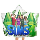 MargieJ The Sims 4 - Paranormal Stuff Beach Towel with Hood Oversize 100% Superfine Fiber Bath Towel Quick Dry Highly Absorbent Soft Feel Perfect for Daily Pool Picnic Use for Shower Hotel Gym