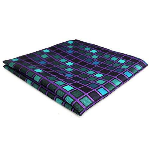 shlax&wing Nuevo Design Azul a cuadros Corbatas Para Hombre Set Traje de negocios Suit Set
