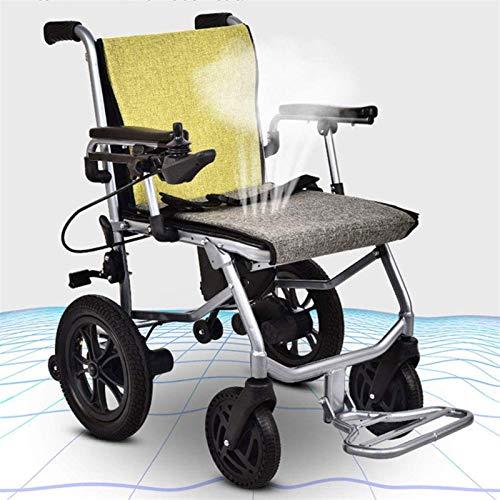 Silla de Ruedas eléctrica Plegable, Silla de ruedas, peso ligero plegable Silla de ruedas eléctrica, Deluxe Doble plegable de alimentación compacto ayuda motriz sillas de ruedas, de doble motor, más l
