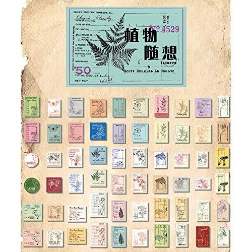 Creative Old Times Vintage Writable Paper Stickers Decoration DIY Album Diary Scrapbooking Label Stationery Stickers