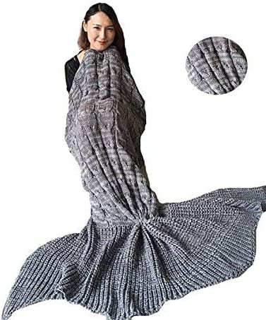 Coroler Adults Adorable Mermaid Tail with Choice Fashionable Scales Blanket Pattern