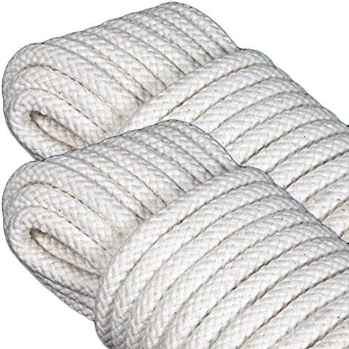 DealMaster Seil zum Aufhängen, 4 mm, 10 m, geflochtenes Seil für Spiegel, Bilderrahmen, belastbar bis 50 kg, Nylon, Weiß