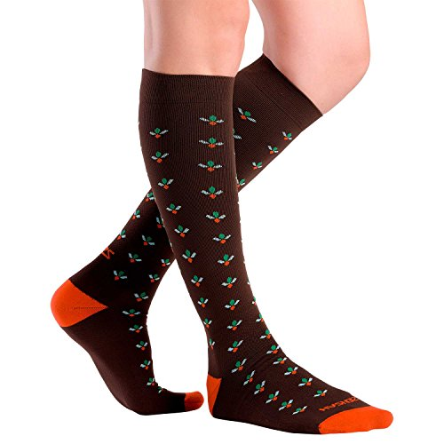 Nurse Compression Socks - Cute Flower Design, Improve Circulation