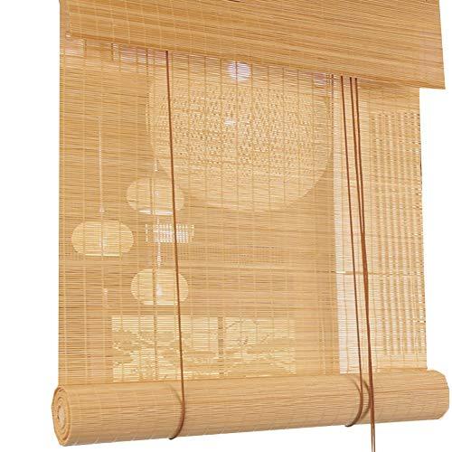 LIANGJUN Bambusrollo Bambus-Vorhang Raffrollos Store Enrouleur Bambou Rideau Naturel Tisser Crème Solaire Rideau D'intimité Couper Couloir Balcon, Personnalisable (Color : A, Size : 140X180cm)