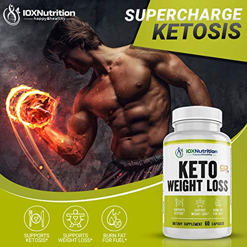 Keto Pills - Supports Keto Burn - Fast Ketosis Diet for Men and Women - Slim Formula with Advanced Keto Pill Capsules - Boost Keto Energy and Metabolism - Pure BHB Keto Pills - 60 Capsules 3