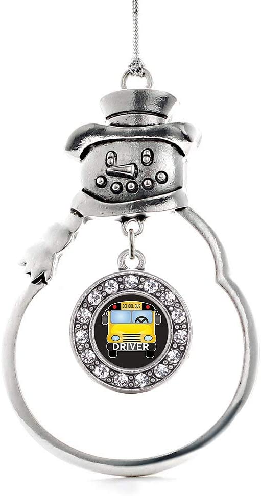 Inspired Silver - School Bus Circle Ranking TOP16 Char Complete Free Shipping Charm Ornament